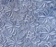 Guipure bleue - texture Images stock