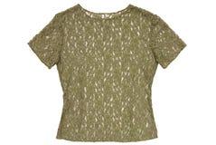A guipure translucent  blouse Stock Photo