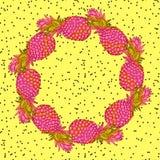 Guirlande à la mode créative d'art d'ananas Photographie stock libre de droits