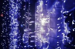 Guirlande électrique de Noël Photo stock