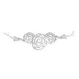 Guirlande avec l'icône décorative de roses Photographie stock libre de droits