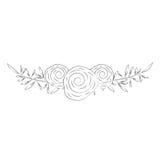 Guirlande avec l'icône décorative de roses Photos libres de droits
