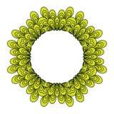 Guirlande avec les éléments et les feuilles floraux Image libre de droits
