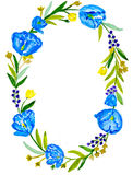 Guirlande bleue Image libre de droits