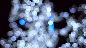 Guirlande brouillée de lumières, mouvement lent clips vidéos