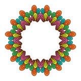 Guirlande colorée avec les éléments et les feuilles floraux Photo libre de droits