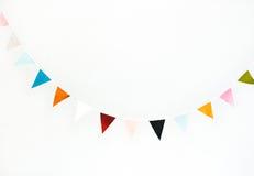 Guirlande colorée de drapeau Image libre de droits