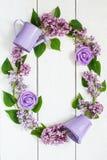 Guirlande colorée de lilas Images stock