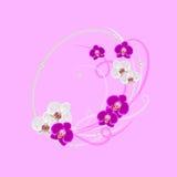 Guirlande décorative avec l'élément floral Photo libre de droits