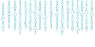 Guirlande décorative des gemmes, des cristaux et des deamonds, gemmes sur une ficelle Illustration de Vecteur