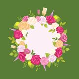 Guirlande décorative faite de Rose Flowers douce illustration libre de droits