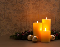 Guirlande d'Advent Christmas Images libres de droits