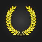 Guirlande d'or de laurier illustration de vecteur