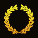 Guirlande d'or de laurier illustration libre de droits