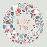 Guirlande d'hiver Photo libre de droits