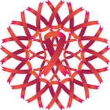 Guirlande de bande de conscience de SIDA Photos libres de droits