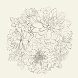 Guirlande de belles fleurs d'été. Photos stock