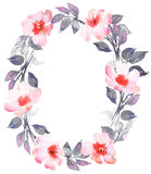 Guirlande de Bohème de fleur avec des roses Image libre de droits