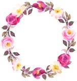 Guirlande de Bohème de fleur avec des roses Composition décorative pour nous Images libres de droits