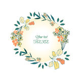 Guirlande de bouquet floral Photos libres de droits