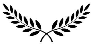 Guirlande de branche d'olivier, de laurier, symbole de récompense de gagnant de vecteur, victoire de signe et richesse dans Roman illustration stock