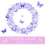 Guirlande de calibre d'élément de conception de papillons illustration libre de droits