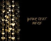 Guirlande de coeur d'or de Saint-Valentin Images stock