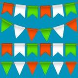 Guirlande de drapeau de vecteur Image stock