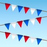 Guirlande de drapeau pour le Jour de la Déclaration d'Indépendance des Etats-Unis Images libres de droits