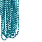 Guirlande de fête d'isolement sur le fond blanc Perle bleue accrochante Images libres de droits