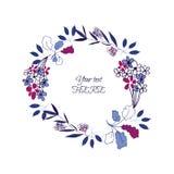 Guirlande de feuille florale Photo stock
