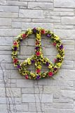 Guirlande de fleur de paix Photos stock