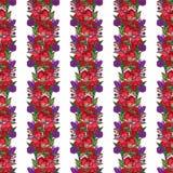 Guirlande de fleur de pavot Images libres de droits