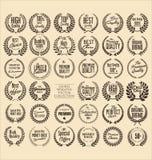 Guirlande de la meilleure qualité de laurier de qualité, ensemble illustration de vecteur