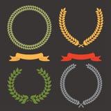 Guirlande de lame de laurier illustration de vecteur