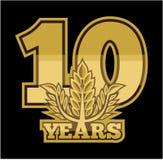 Guirlande de laurier 10 ans illustration de vecteur