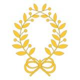 Guirlande de laurier avec l'arc illustration stock