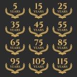 5-115 guirlande de laurier d'anniversaire illustration de vecteur