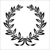 Guirlande de laurier d'icône - noir d'illustration de vecteur illustration stock