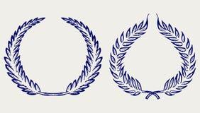 Guirlande de laurier de vecteur illustration de vecteur