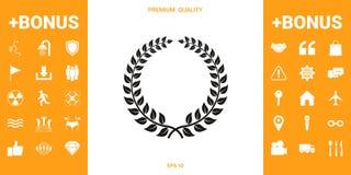 Guirlande de laurier - symbole de conception illustration libre de droits
