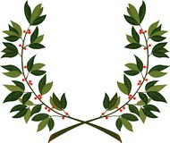 Guirlande de laurier - symbole de victoire et d'accomplissement illustration de vecteur