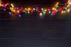 Guirlande de lumière colorée photo stock