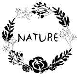 Guirlande de nature illustration de vecteur