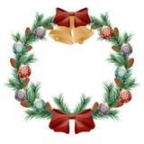 Guirlande de Noël Images libres de droits