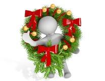 Guirlande de Noël Photographie stock libre de droits