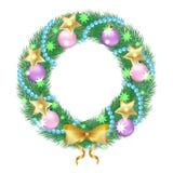Guirlande de Noël illustration de vecteur