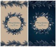 Guirlande de Noël avec des décorations Photographie stock libre de droits