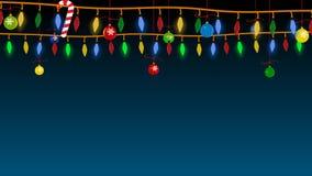 Guirlande de Noël avec des jouets animation illustration de vecteur