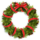 Guirlande de Noël avec la proue rouge Image libre de droits